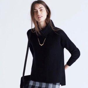 Madewell Black Knit Convertible Turtleneck Sweater